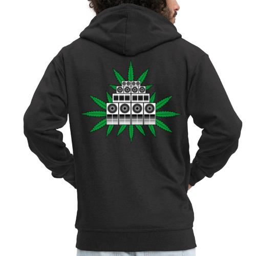 Ganja Sound System - Men's Premium Hooded Jacket
