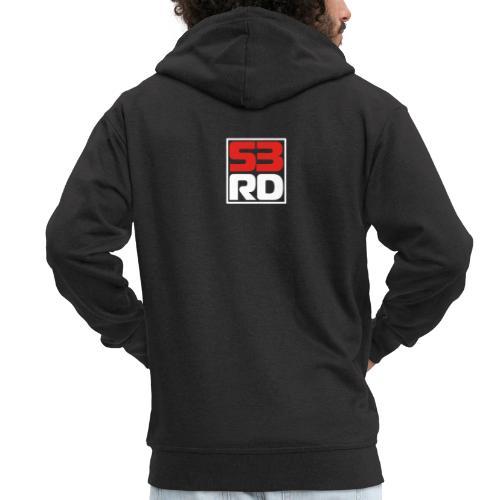 53RD Logo kompakt umrandet (weiss-rot) - Männer Premium Kapuzenjacke