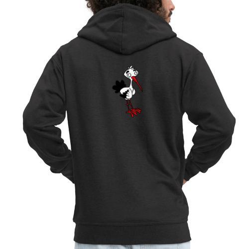 Storch von dodocomics - Männer Premium Kapuzenjacke