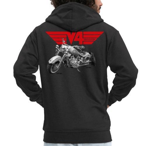 V4 Motorcycles red Wings - Männer Premium Kapuzenjacke