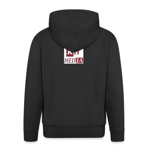 KH MEDIA LOGO 2D - Men's Premium Hooded Jacket