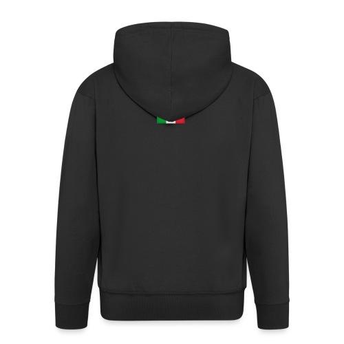 Włosko-polska - Rozpinana bluza męska z kapturem Premium
