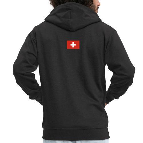 Bandera de Suiza - Chaqueta con capucha premium hombre