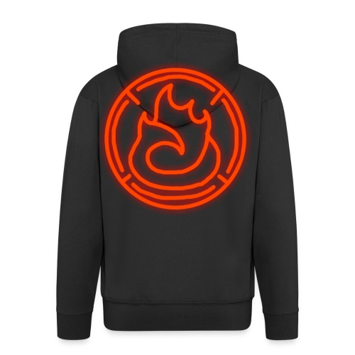 Fire Magic Circle - Men's Premium Hooded Jacket