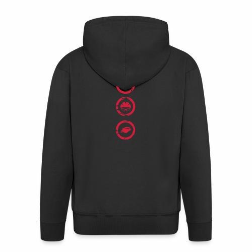 Mosso_run_swim_cycle - Felpa con zip Premium da uomo
