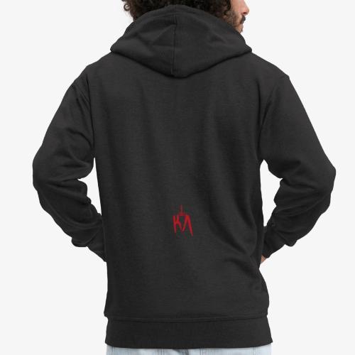 KA_Logo_rot - Männer Premium Kapuzenjacke