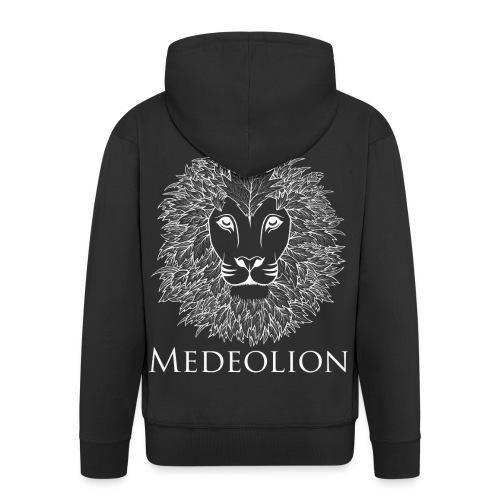 Medeolion Official White Logo - Mannenjack Premium met capuchon