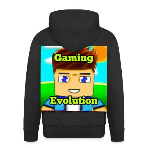 me while gaming - Men's Premium Hooded Jacket