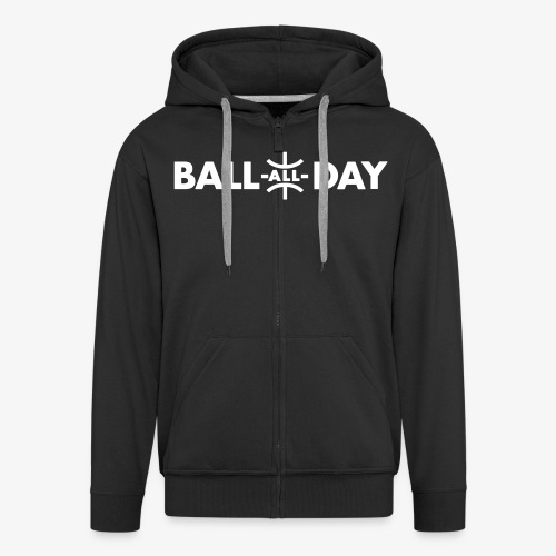 BALL ALL DAY Shirt - White - Männer Premium Kapuzenjacke