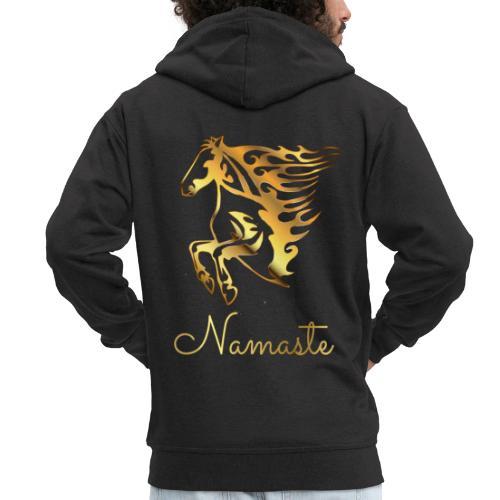 Namaste Horse On Fire - Männer Premium Kapuzenjacke