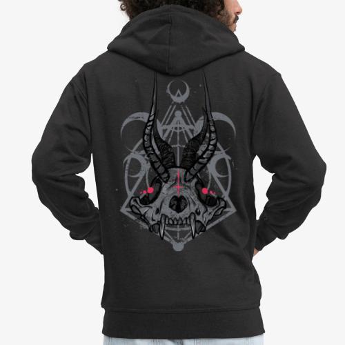 Fox Skull Demonlord - wh Logo - Männer Premium Kapuzenjacke