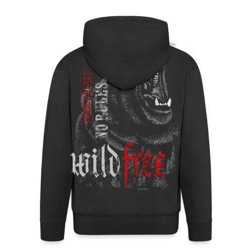 WILDFREE | BEAR - Männer Premium Kapuzenjacke
