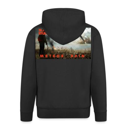 Meteor rain - Felpa con zip Premium da uomo