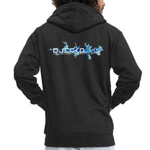 logo wave bleu fond noir - Veste à capuche Premium Homme