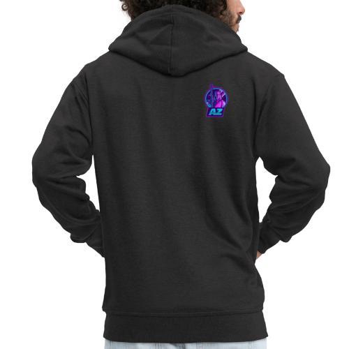 AZ GAMING LOGO - Men's Premium Hooded Jacket