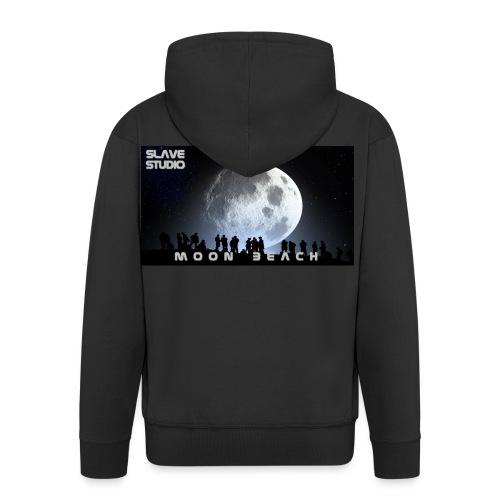 Moon beach - Felpa con zip Premium da uomo