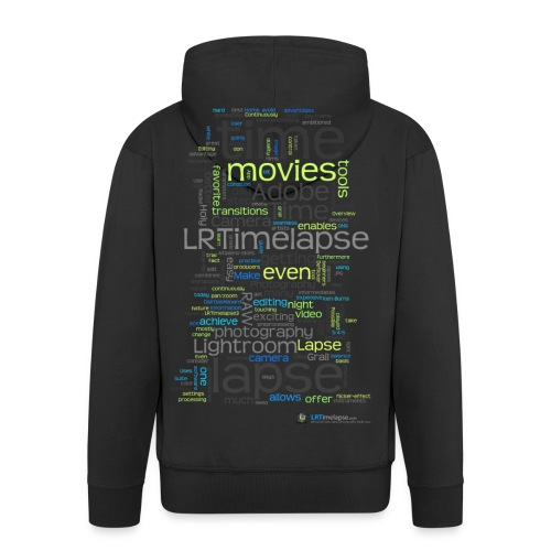 LRTImelapse Shirt Tags 4 png - Männer Premium Kapuzenjacke