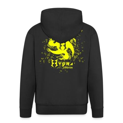 Hydra Design - logo glass explosion - Felpa con zip Premium da uomo