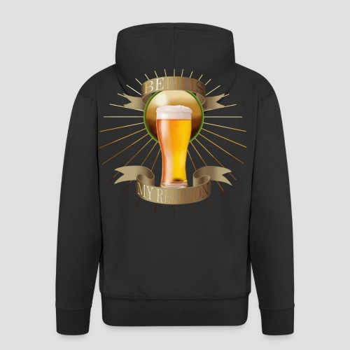 Beer is my religion - Veste à capuche Premium Homme