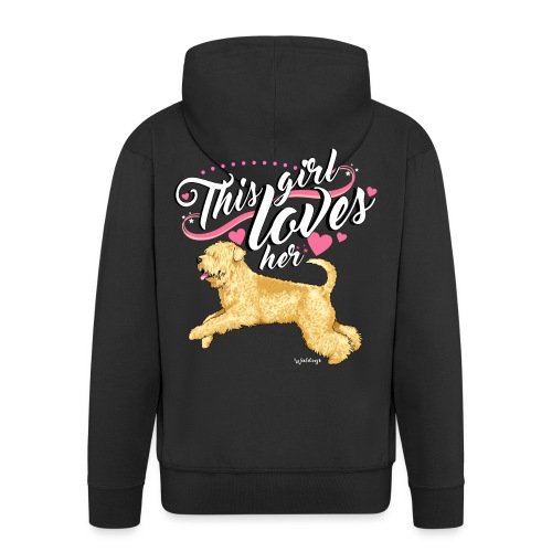 Wheaten Terrier Girl 2 - Men's Premium Hooded Jacket