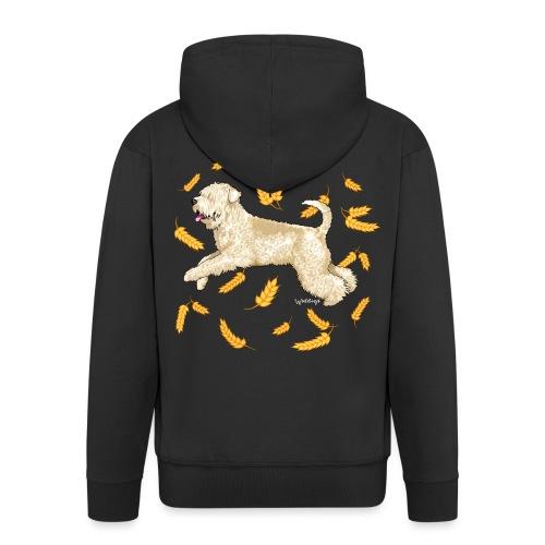 Wheat Wheaten Terrier - Men's Premium Hooded Jacket