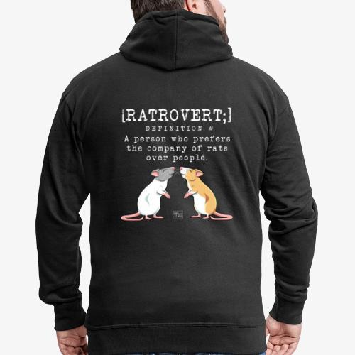 Ratrovert VI - Miesten premium vetoketjullinen huppari