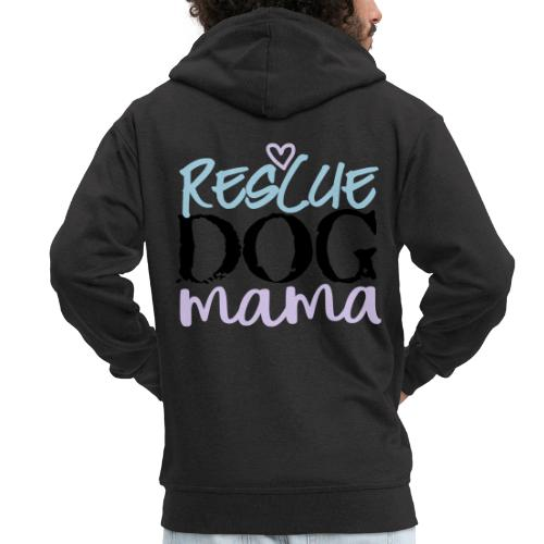 rescuedogmamacolor - Miesten premium vetoketjullinen huppari