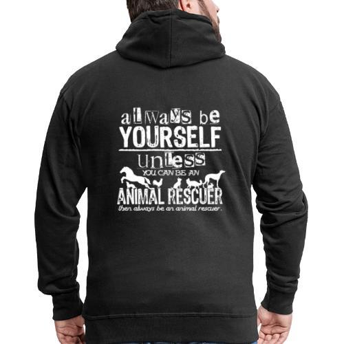 Animal Rescuer - Miesten premium vetoketjullinen huppari