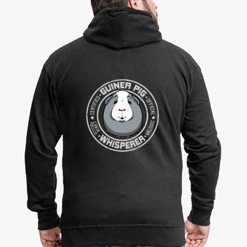 Guinea Pig Whisperer III - Miesten premium vetoketjullinen huppari