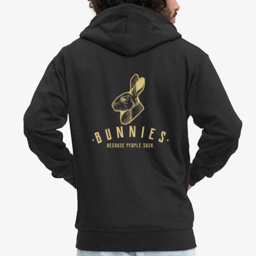 Bunnies Because II - Miesten premium vetoketjullinen huppari