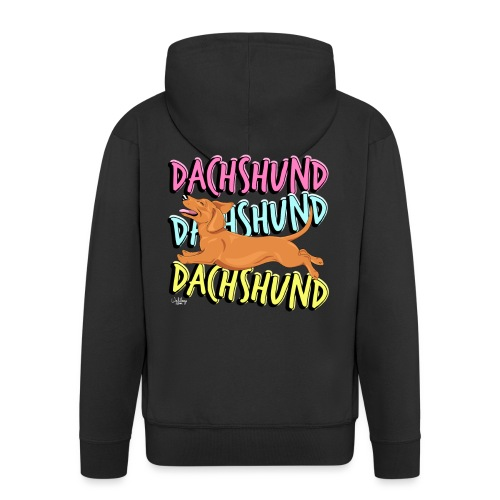 dachsdachsdachs - Men's Premium Hooded Jacket