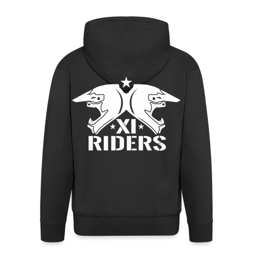 XIrider Logo weiß png - Männer Premium Kapuzenjacke