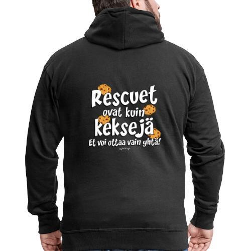 Rescue keksejä - Miesten premium vetoketjullinen huppari