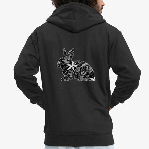 Flower Rabbit - Miesten premium vetoketjullinen huppari