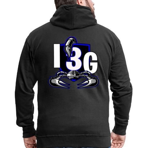 LOGO BLEU I3G - Veste à capuche Premium Homme
