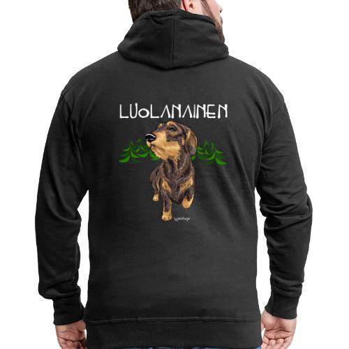 Mäyräkoira KK Luolanainen - Miesten premium vetoketjullinen huppari