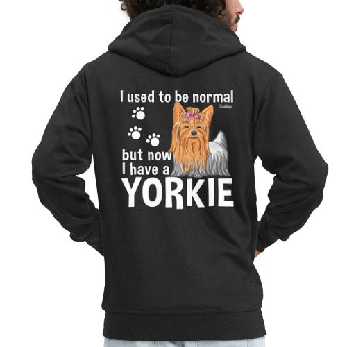 Yorkie Normal - Miesten premium vetoketjullinen huppari