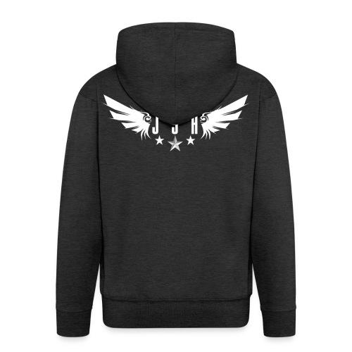 JSHLogo 1w png - Men's Premium Hooded Jacket