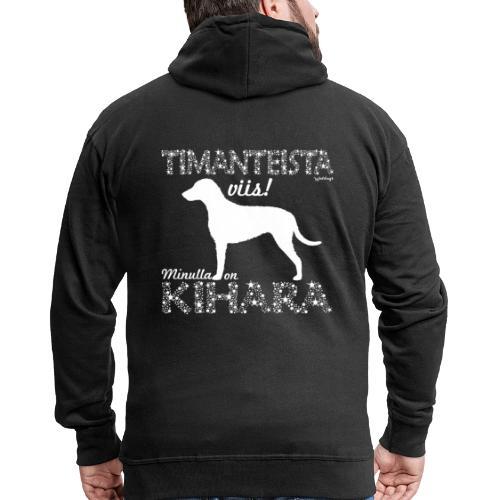 Kihara Timantti - Miesten premium vetoketjullinen huppari
