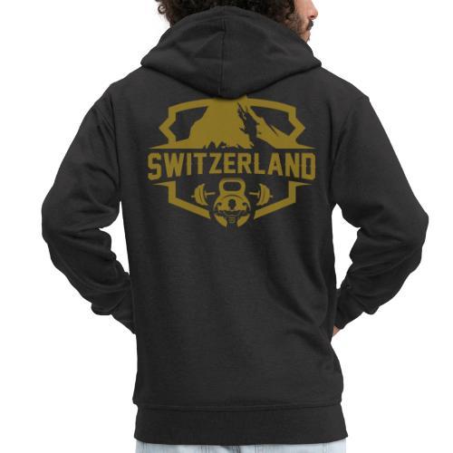 Swiss Mountain _ Gold Edtion - Männer Premium Kapuzenjacke