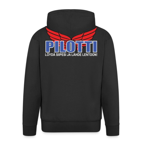 Pilotti - Miesten premium vetoketjullinen huppari