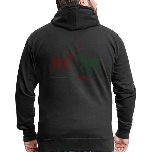 Christmas deer - Men's Premium Hooded Jacket