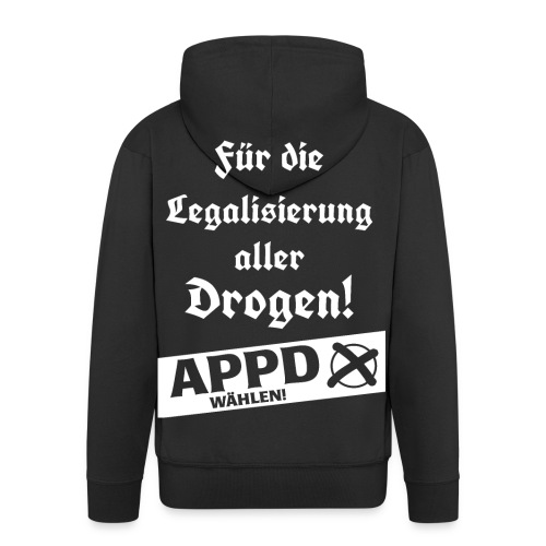 Legalisierung aller Drogen! APPD wählen! - Männer Premium Kapuzenjacke