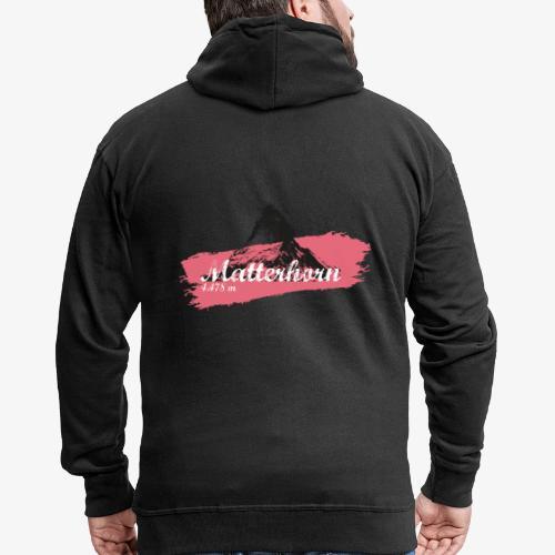 Matterhorn - Cervino - Color Coral - Men's Premium Hooded Jacket