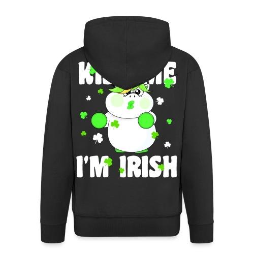 Kiss me I'm Irish Unicorn Einhorn - Männer Premium Kapuzenjacke