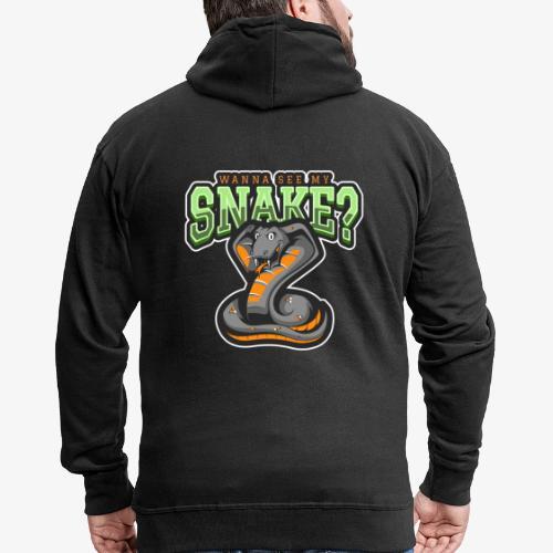 Wanna see my Snake III - Miesten premium vetoketjullinen huppari