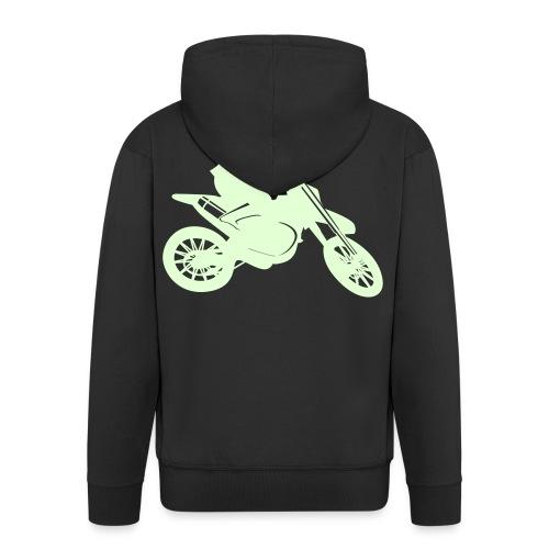 Motocross Bike - Männer Premium Kapuzenjacke