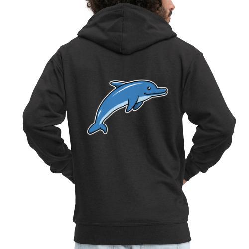 Delfin, Tier, Comic, süß, Kawaii - Männer Premium Kapuzenjacke