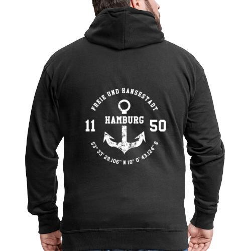 Freie und Hansestadt Hamburg 1150 weiss - Männer Premium Kapuzenjacke
