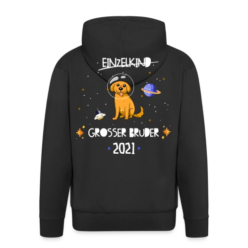 Großer Bruder 2021 Astronauten Hund Planeten - Männer Premium Kapuzenjacke